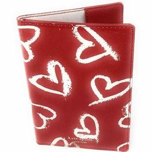 Kate Spade Lipstick Hearts Passport Holder Case